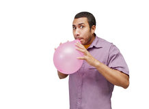 Blowing balloon Stock Photos