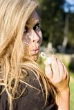 Blowing Bubble Kisses Royalty Free Stock Image