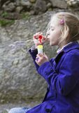 Blowing bubbles Royalty Free Stock Photography