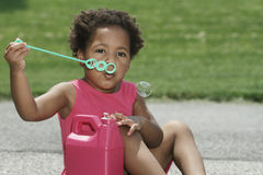 Blowing Bubbles Royalty Free Stock Image