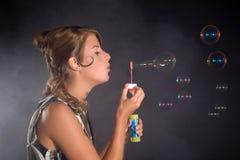 blowing bubbles Στοκ φωτογραφία με δικαίωμα ελεύθερης χρήσης