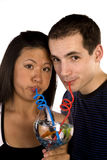 Blowing bubbles bowl Royalty Free Stock Photos