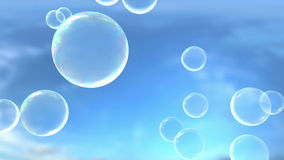 Blowing Bubbles stock video footage