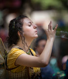 Blowing Bubbles Maryland Renaissance Festival Royalty Free Stock Photos