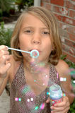 Blowing Bubbles at you Stock Photos