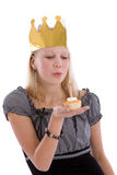 Blowing the candle Royalty Free Stock Photos