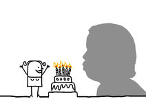 Blowing candles Stock Image