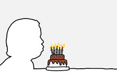 Blowing candles Stock Images