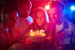 Blowing candles Royalty Free Stock Images