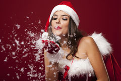 Blowing christmas snow Stock Images