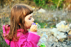 Blowing girl royalty free stock images