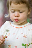 Blowing girl Royalty Free Stock Image