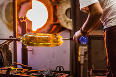 Blowing Glass Closeup of Propane Gas Flame Stock Images