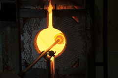 Blowing glass Stock Photo