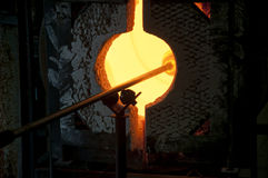 Blowing glass Stock Images