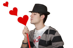 Blowing hearts Royalty Free Stock Image
