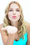 Blowing a Kiss Royalty Free Stock Photography