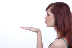 Blowing a kiss Stock Photography