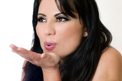 Blowing a Kiss Stock Photos