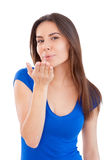 Blowing a kiss. Royalty Free Stock Photo