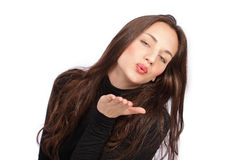 Blowing kiss Royalty Free Stock Photography