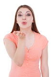 Blowing a kiss to you. Stock Photography