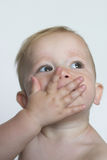 Blowing Kisses. Image of a cute toddler blowing kisses Stock Images