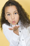Blowing Kisses Royalty Free Stock Photography