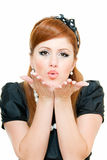 Blowing kisses Royalty Free Stock Images