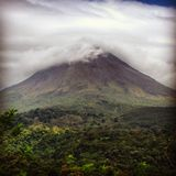 The blowing mountain. The costarica mountain right before it erupted beautifully captured royalty free stock photos