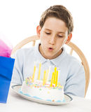 Blowing Out Candles Royalty Free Stock Images