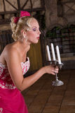Blowing out the candles Royalty Free Stock Photo