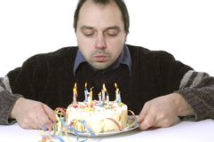 Blowing out the candles Stock Photography