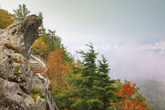 Blowing Rock North Carolina Foggy Autumn Royalty Free Stock Photo