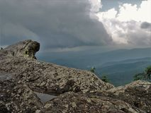 Blue Ridge Mountains from Blowing Rock stock photo