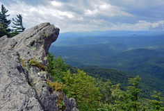 Blowing Rock, North Carolina. This is the vast view from the top of Blowing Rock in the mountains of North Carolina Stock Photo