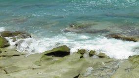 Blowing rocks state park. Jupiter Florida water royalty free stock image