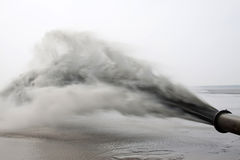 Blowing sand made land engineering by the sea. Northern china Stock Photography