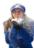 Blowing snow. Royalty Free Stock Photos