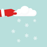 Blowing Snow holding cloud in hand Royalty Free Stock Photo