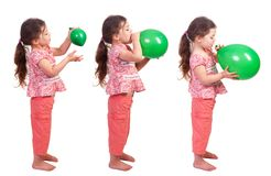Blowing Up A Balloon Royalty Free Stock Images