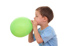 Blowing up balloon Royalty Free Stock Image