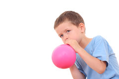 Blowing up balloon Royalty Free Stock Photos