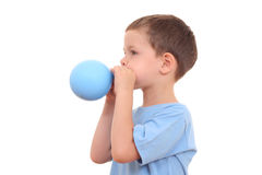 Blowing up balloon Royalty Free Stock Photo