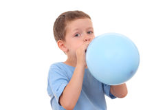 Blowing up balloon Royalty Free Stock Photography