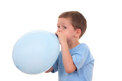 Blowing up balloon Stock Photos