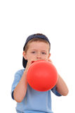 Blowing up balloon Royalty Free Stock Images