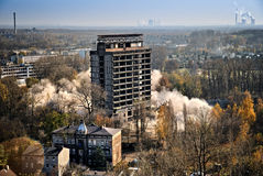 Blowing up the building for demolition Stock Image