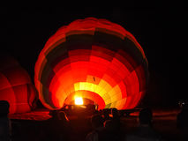 Blowing up hot air balloons at Cappadocia Royalty Free Stock Photo
