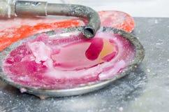 Blowlamp grże up wosk pracować w stomatologicznym lab Zdjęcia Royalty Free
